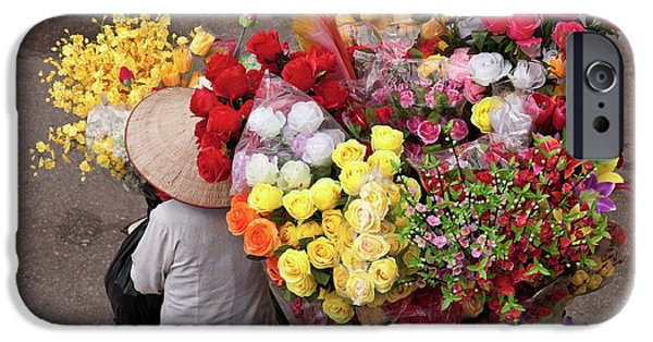 Artificial Flowers iPhone Cases - Hanoi Flowers 02 iPhone Case by Rick Piper Photography