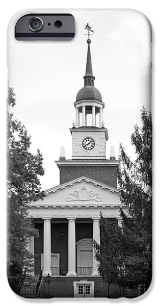 Liberal iPhone Cases - Hanover College Parker Auditorium iPhone Case by University Icons