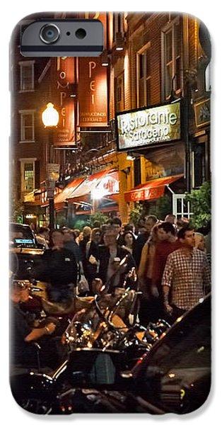 Hanover Street Nights - Boston iPhone Case by Joann Vitali