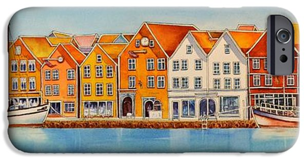 Recently Sold -  - Norway iPhone Cases - Hanseatic_Houses_Bergen_Norway iPhone Case by Nancy Newman