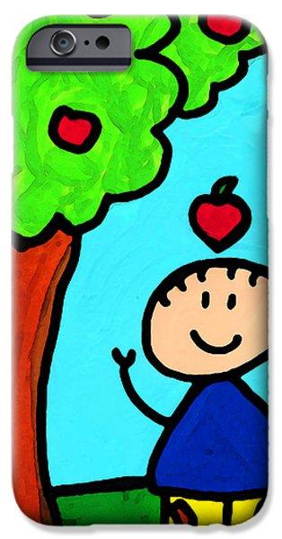 Happi Arti 6 - Sir Isaac Newton Art  iPhone Case by Sharon Cummings