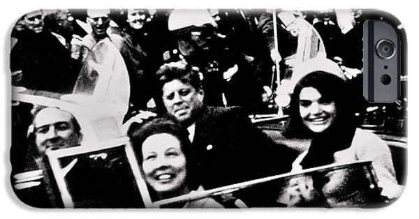 President Kennedy iPhone Cases - Happier Times iPhone Case by Benjamin Yeager