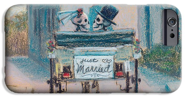 Couple Pastels iPhone Cases - Happily Ever After iPhone Case by Marie Marfia