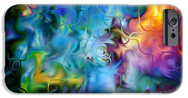 Abstract Digital iPhone Cases - Happiness iPhone Case by Nicole Whittaker