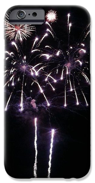 Happy New Year Pyrography iPhone Cases - Happy 4th iPhone Case by Andrew  Stoffel
