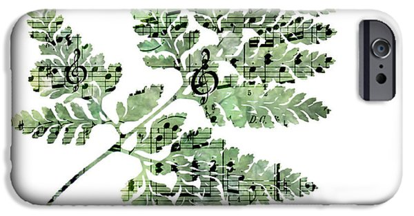 Sheets iPhone Cases - Happy Adventure Music Fern iPhone Case by Sandra Foster