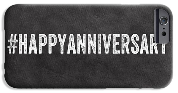 Employee iPhone Cases - Happy Anniversary- Greeting Card iPhone Case by Linda Woods
