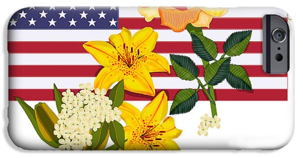 4th July Digital iPhone Cases - Happy Birthday America 2013 iPhone Case by Anne Norskog