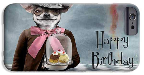 Photomontage iPhone Cases - Happy Birthday iPhone Case by Juli Scalzi