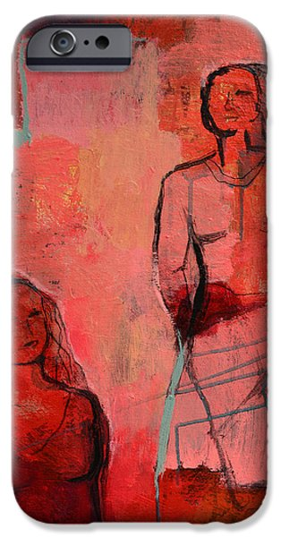 Red Abstract Pyrography iPhone Cases - Happy day iPhone Case by Eiwy Ahlund