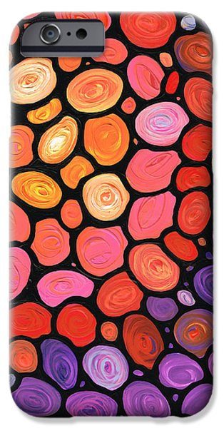 Collectibles Paintings iPhone Cases - Happy Day iPhone Case by Sharon Cummings