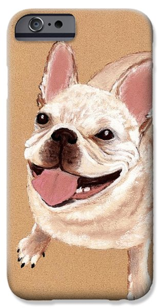 Friendly iPhone Cases - Happy Dog iPhone Case by Anastasiya Malakhova