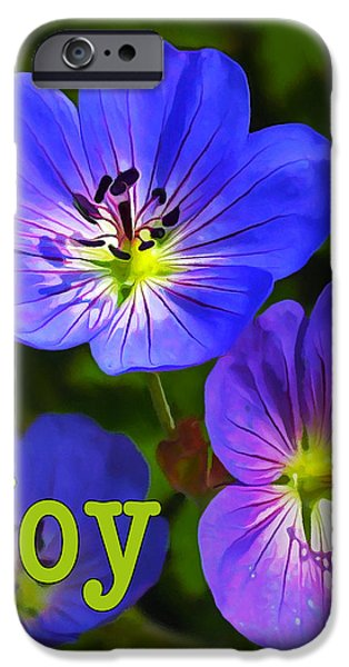 Floral Digital Art Digital Art iPhone Cases - Happy Face - Joy iPhone Case by Bill Caldwell -        ABeautifulSky Photography