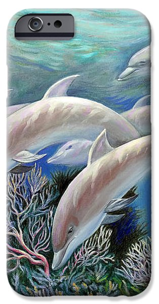 Happy Family. Dolphins Are Awesome iPhone Case by Svitozar Nenyuk