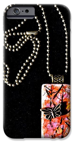 Nature Abstracts Jewelry iPhone Cases - Happy Family Domino Pendant iPhone Case by Beverley Harper Tinsley