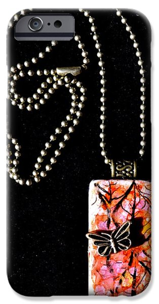 Abstract Jewelry iPhone Cases - Happy Family Domino Pendant iPhone Case by Beverley Harper Tinsley