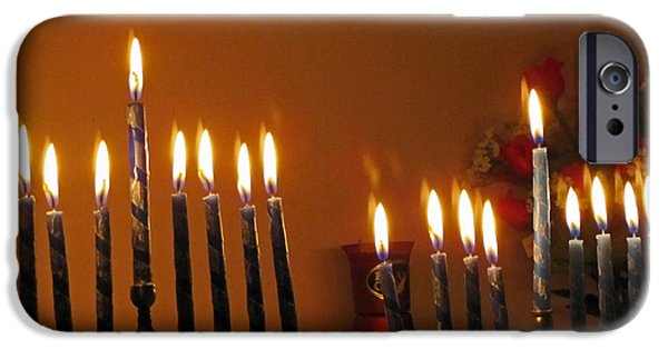 Chanukah iPhone Cases - Happy Festival of Lights iPhone Case by Roger Reeves  and Terrie Heslop