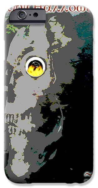 Painter Photo Mixed Media iPhone Cases - Happy Halloween 2013 iPhone Case by Jimi Bush