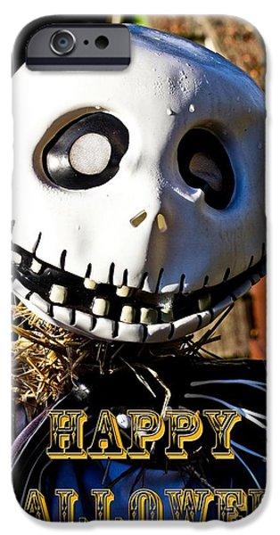 Creepy iPhone Cases - Happy Halloween iPhone Case by Tom Gari Gallery-Three-Photography
