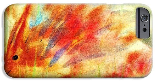 Children Pastels iPhone Cases - Happy Hedgehog iPhone Case by Anastasiya Malakhova