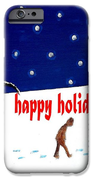 HAPPY HOLIDAYS 5 iPhone Case by Patrick J Murphy