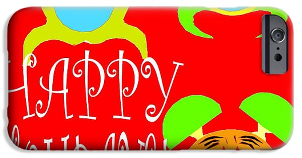Miracle Mixed Media iPhone Cases - Happy Holidays 8 iPhone Case by Patrick J Murphy