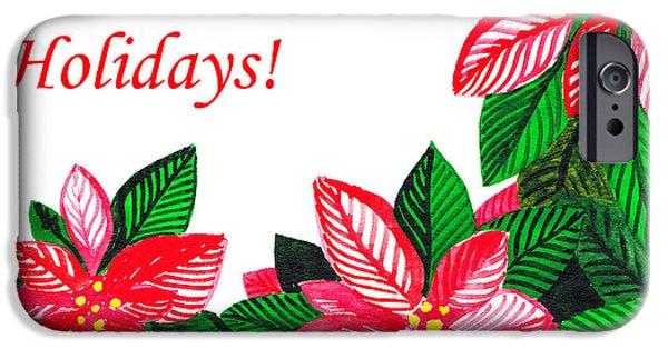 Christmas iPhone Cases - Happy Holidays iPhone Case by Irina Sztukowski