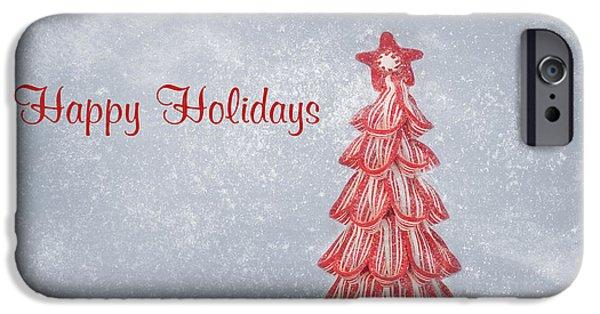 Kim Photographs iPhone Cases - Happy Holidays iPhone Case by Kim Hojnacki