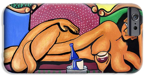 Happy Posters iPhone Cases - Happy Hour iPhone Case by Anthony Falbo
