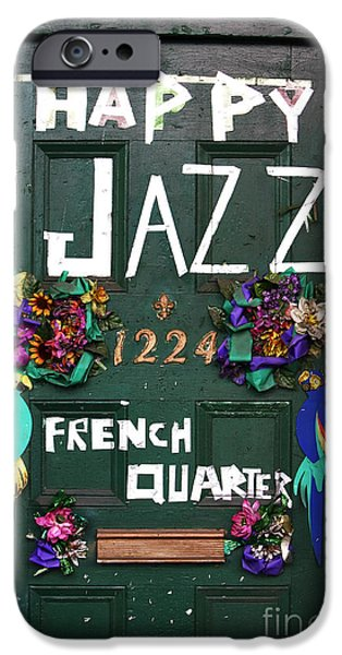 John Rizzuto iPhone Cases - Happy Jazz iPhone Case by John Rizzuto