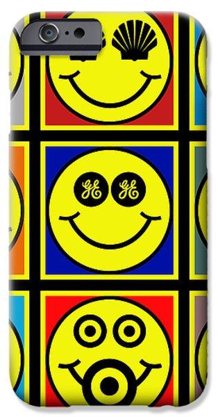 Happy Logos iPhone Case by Tony Rubino