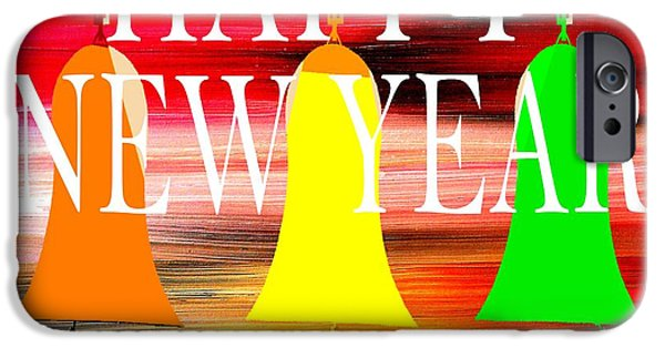 Miracle Mixed Media iPhone Cases - Happy New Year 10 iPhone Case by Patrick J Murphy