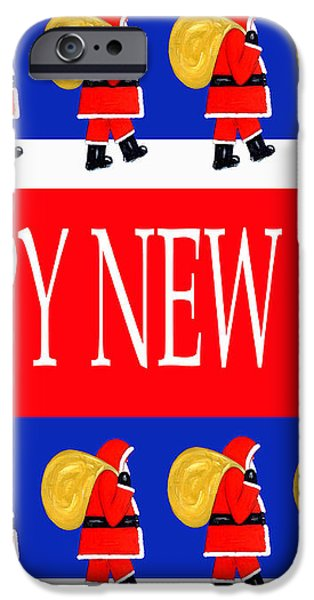 HAPPY NEW YEAR 7 iPhone Case by Patrick J Murphy