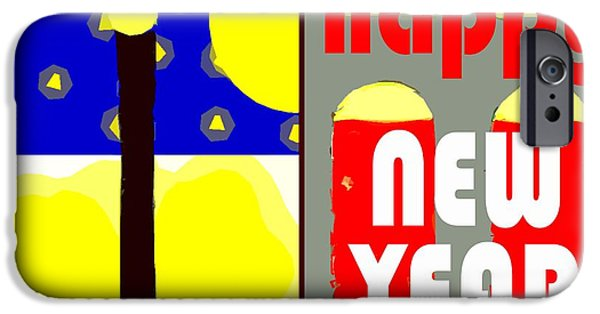 Dog Iphone Case iPhone Cases - Happy New Year 91 iPhone Case by Patrick J Murphy