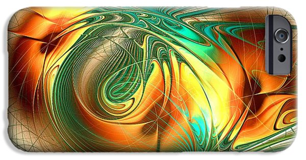 Recently Sold -  - Abstracts iPhone Cases - Happy Orange iPhone Case by Anastasiya Malakhova