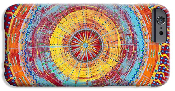 Cosmic Space Paintings iPhone Cases - Happy Soul iPhone Case by Louise Lowry
