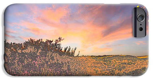 Planet Fantastic iPhone Cases - Happy Sunset iPhone Case by Augusta Stylianou