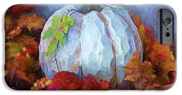 """indoor"" Still Life Digital Art iPhone Cases - Happy Thanksgiving - Seasonal Art iPhone Case by Jordan Blackstone"