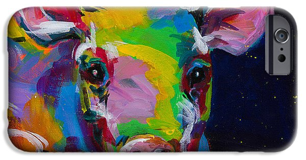 Piglets Paintings iPhone Cases - Happy iPhone Case by Tracy Miller