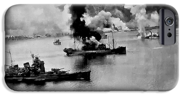 Ww Ii iPhone Cases - Harbor Attack iPhone Case by Unknown