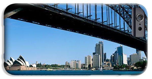 Connection iPhone Cases - Harbor Bridge, Sydney, Australia iPhone Case by Panoramic Images