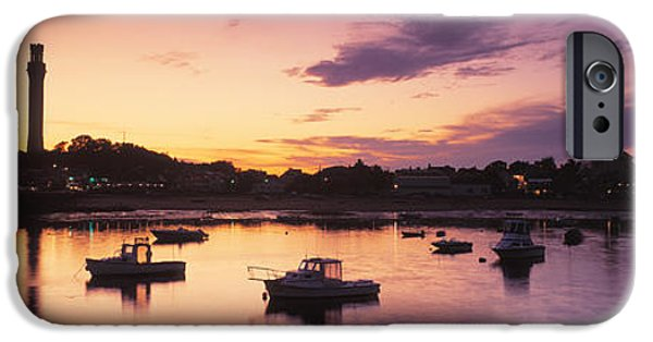 New England Village iPhone Cases - Harbor Cape Cod Ma iPhone Case by Panoramic Images