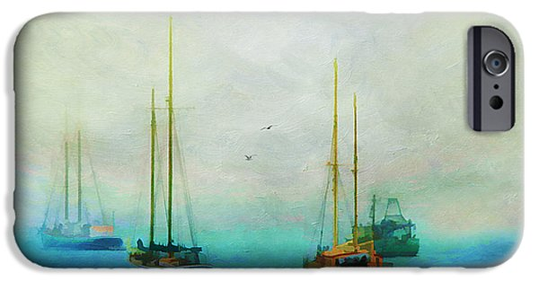 East Village iPhone Cases - Harbor Fog iPhone Case by Darren Fisher