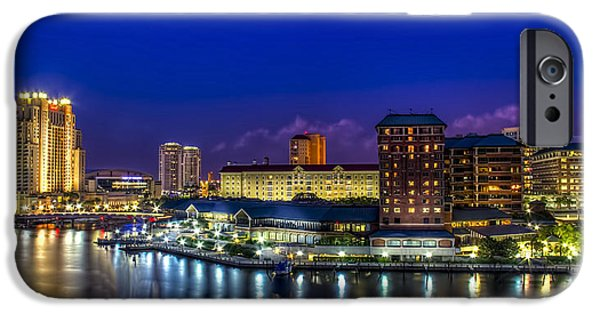 Waterfront Photographs iPhone Cases - Harbor Island Nightlights iPhone Case by Marvin Spates