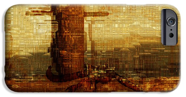 Abstract Forms iPhone Cases - Harbor iPhone Case by Jack Zulli