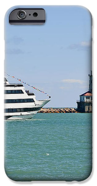 Harbor Light Chicago iPhone Case by Christine Till