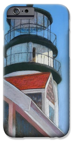 Lighthouse Pastels iPhone Cases - Harbor Light iPhone Case by Marilyn Mull