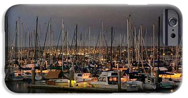 Pleasure iPhone Cases - Harbor Lights iPhone Case by Barbara Snyder