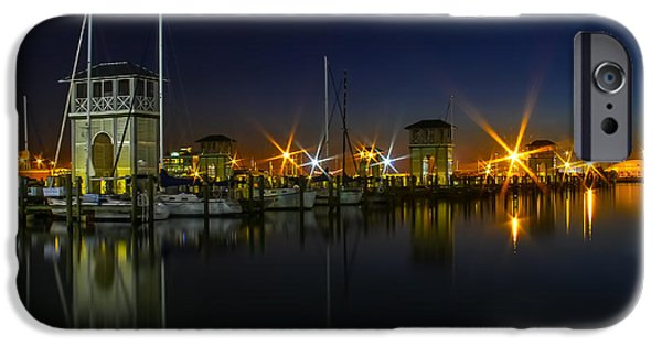 Boat iPhone Cases - Harbor Lights iPhone Case by Brian Wright