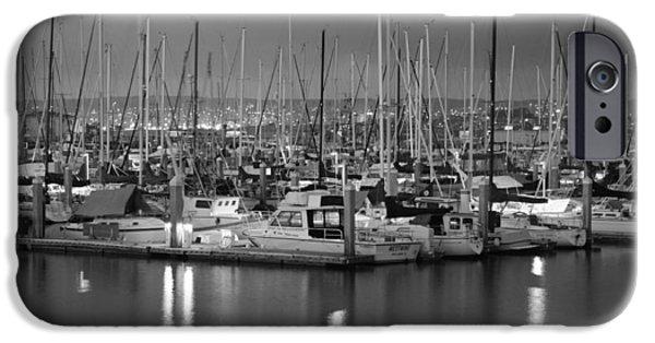 Pleasure iPhone Cases - Harbor Lights II iPhone Case by Barbara Snyder